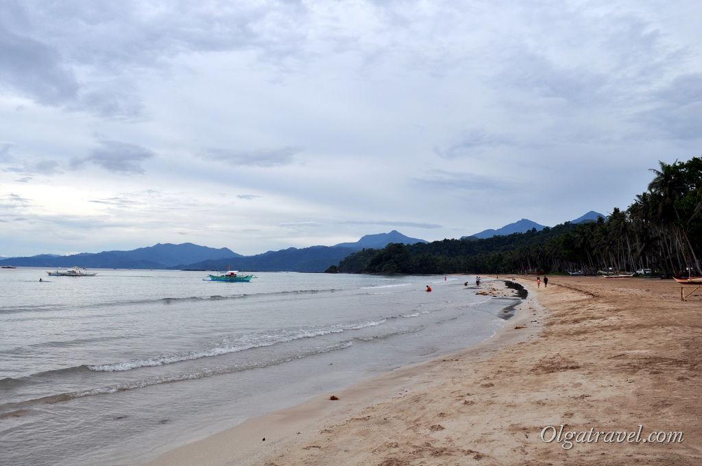 Сабанг пляж в серую погоду