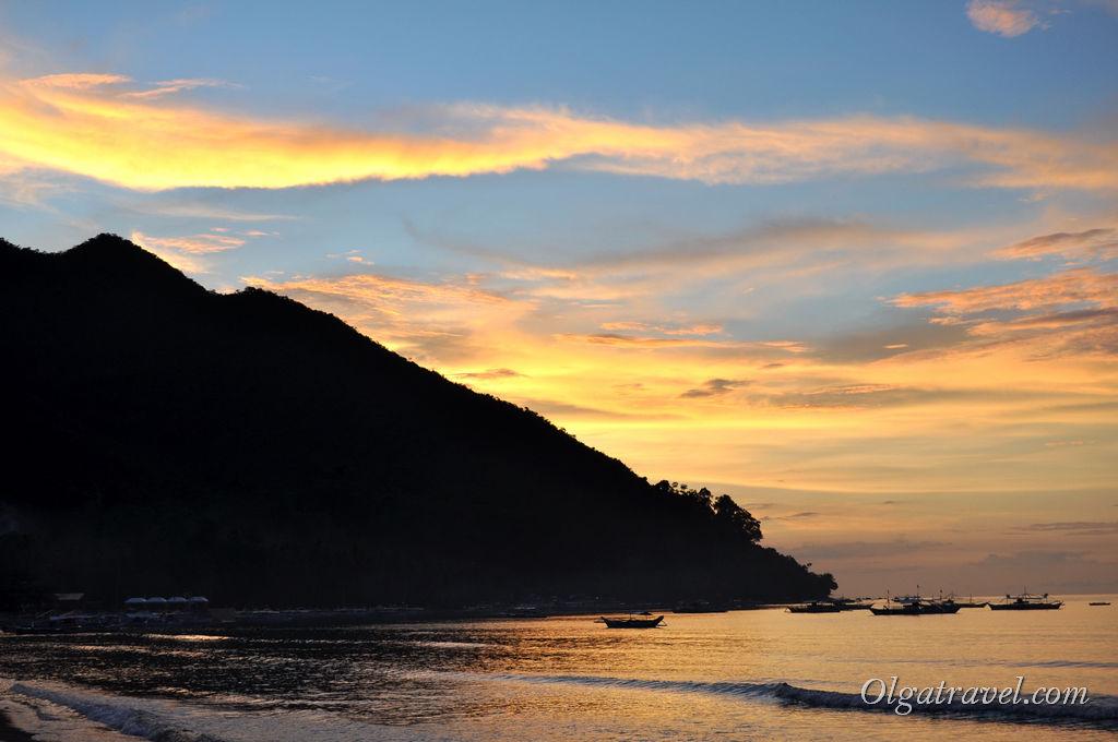 Филиппинские закаты в Сабанге