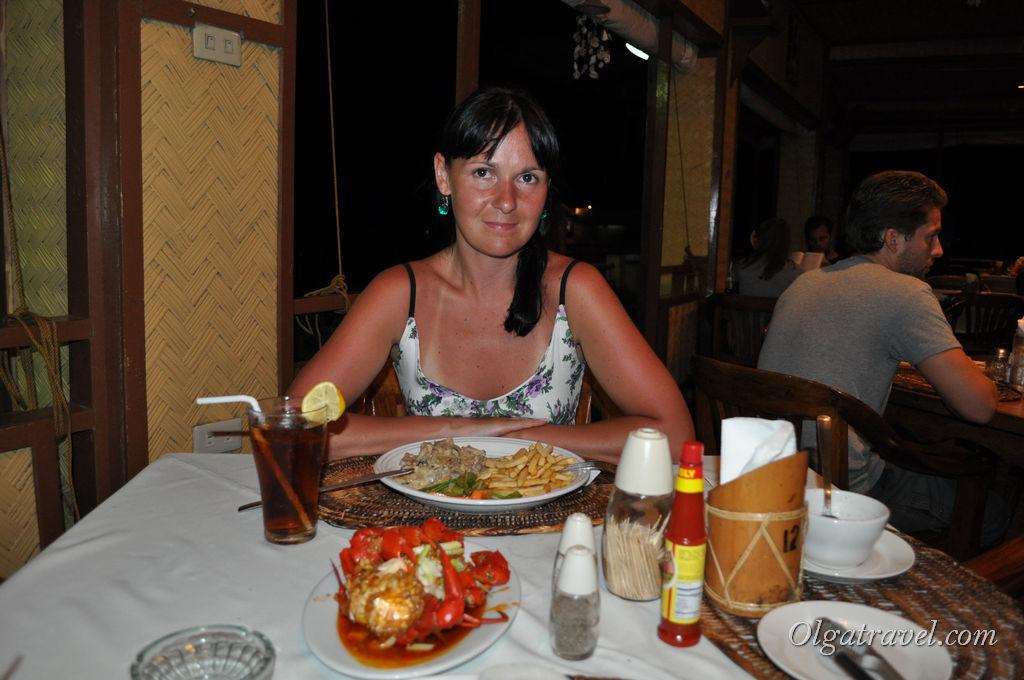 Каждый вечер мы ужинали в нашем отеле - Sea Dive Resort