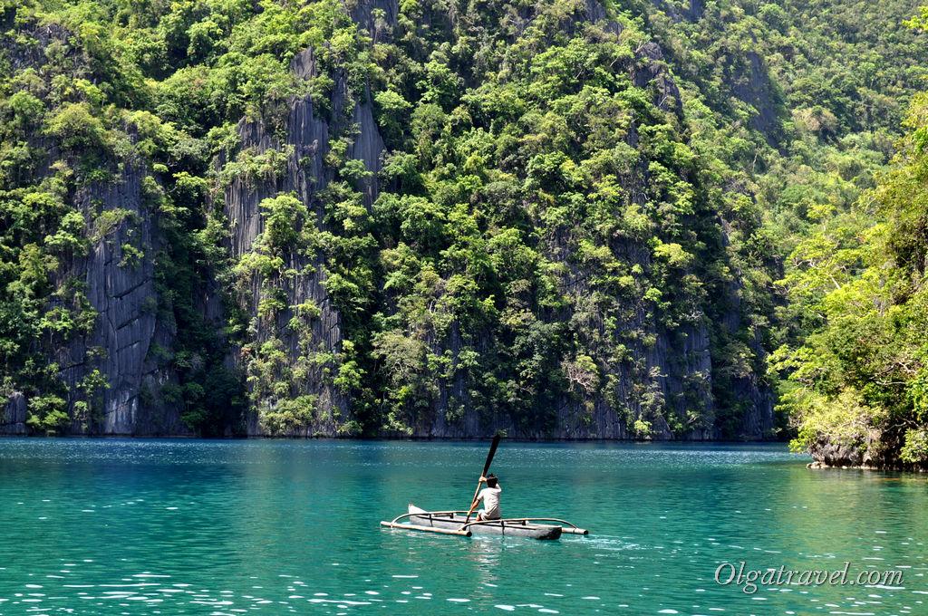 Озеро Каянган на острове Корон