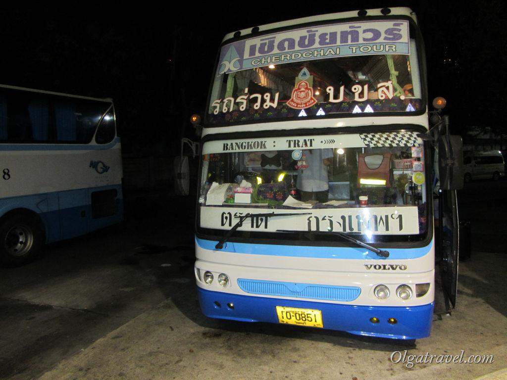 Автобус Cherdchai Tour из Бангкока в Трат