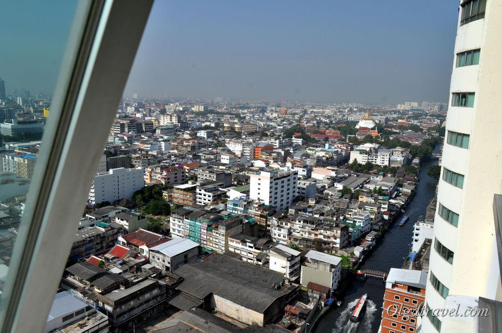 Бангкок, вид из номера отеля Prince Palace