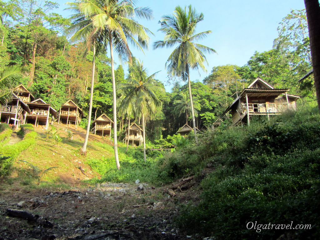 Hillside bungalows Siam Beach