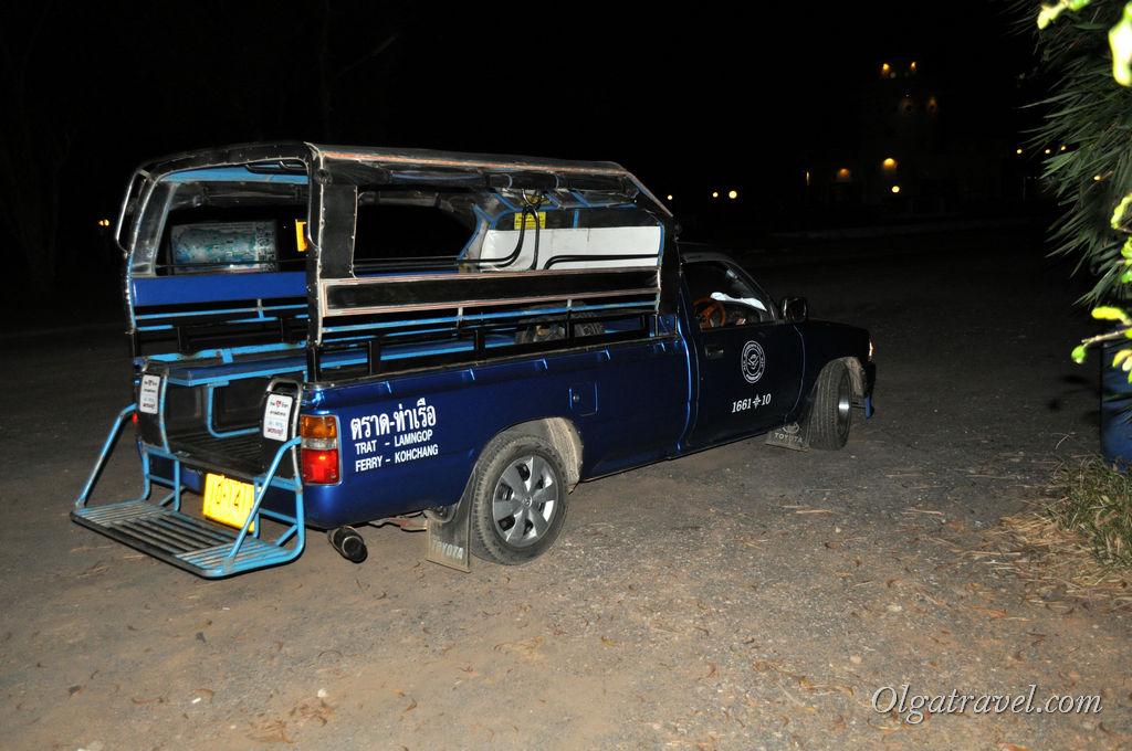 Маршрутки – такси (сонгтео) от автостанции Трат до пирса паромов на Ко Чанг
