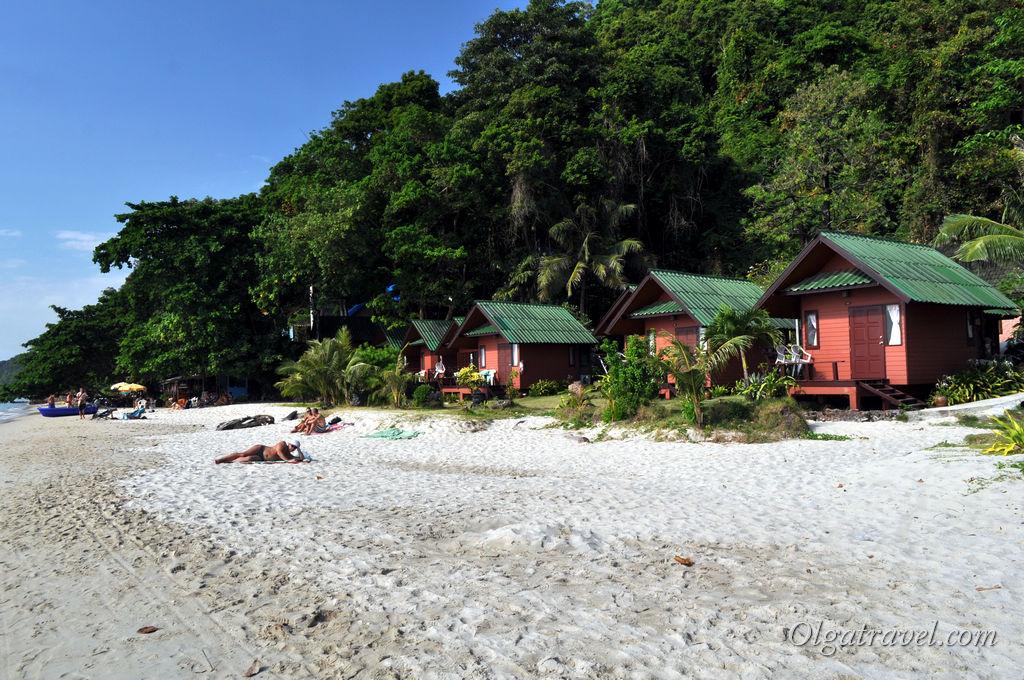 Домики на пляже от 1500 бат в сутки