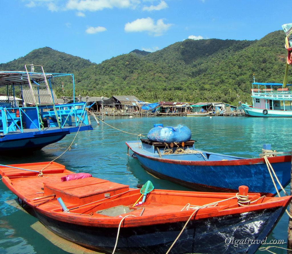 Рыбацкие лодки местных жителей