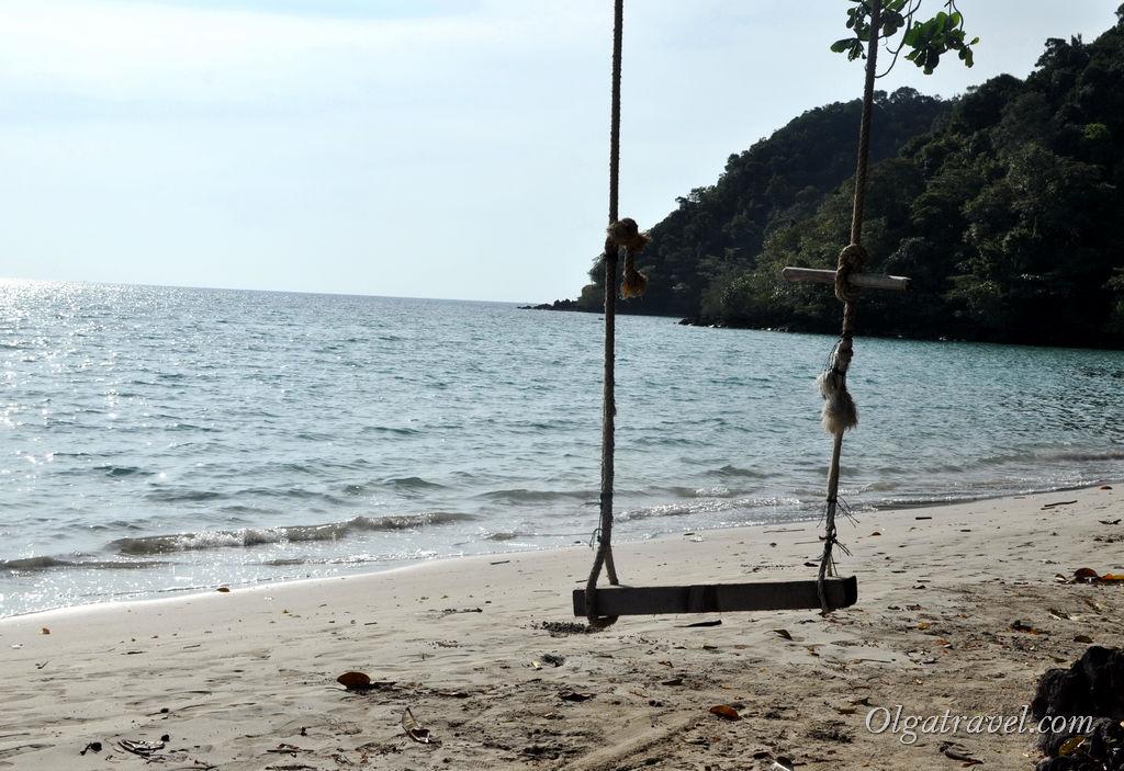 Качельки, как и всех пляжах Ко Чанга