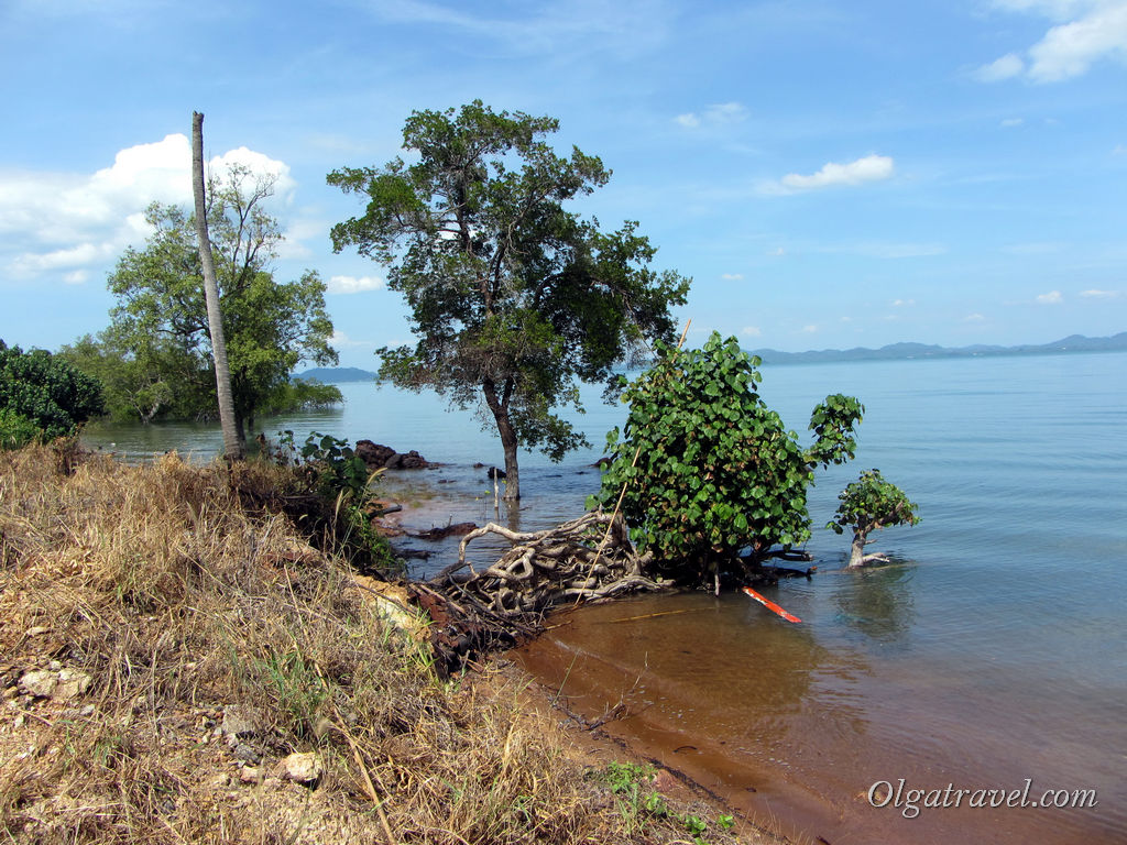 Море с восточной стороны острова