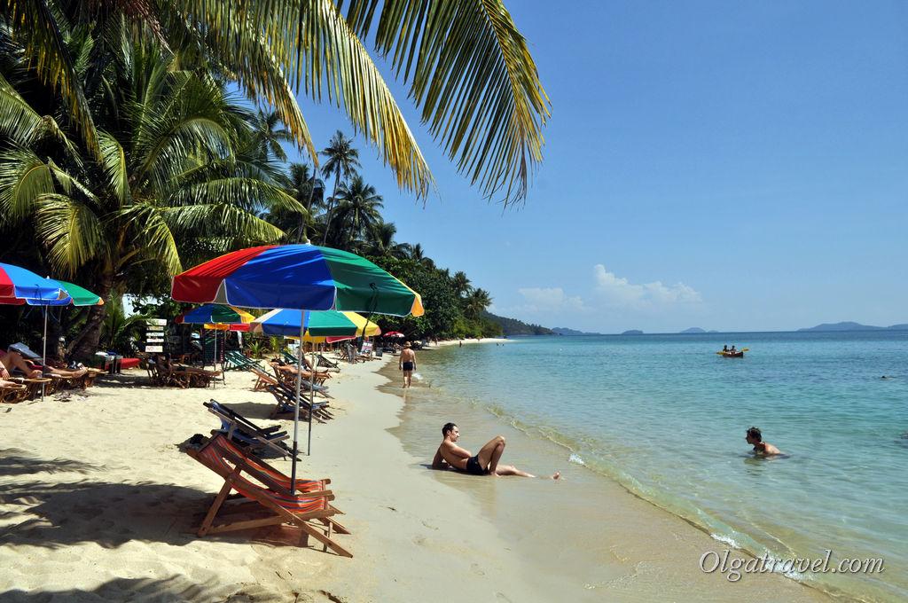 Яркие летние краски: море, солнце, песок, зонтики