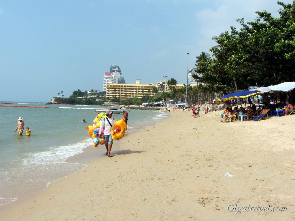 Пляж в Центральной Паттайи