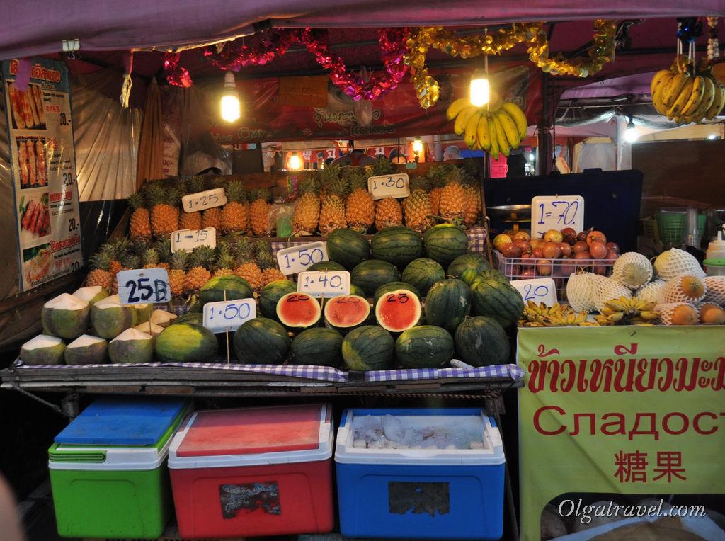 цены на фрукты Паттайя