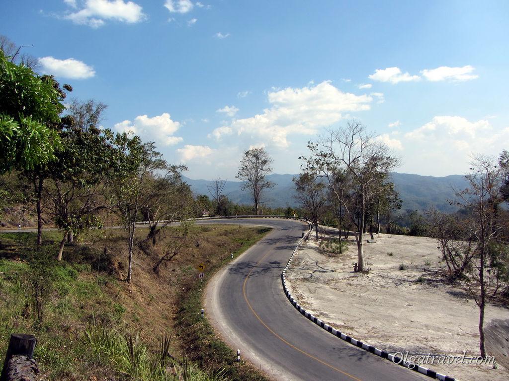 Серпантинистая трасса Чианг Май - Пай