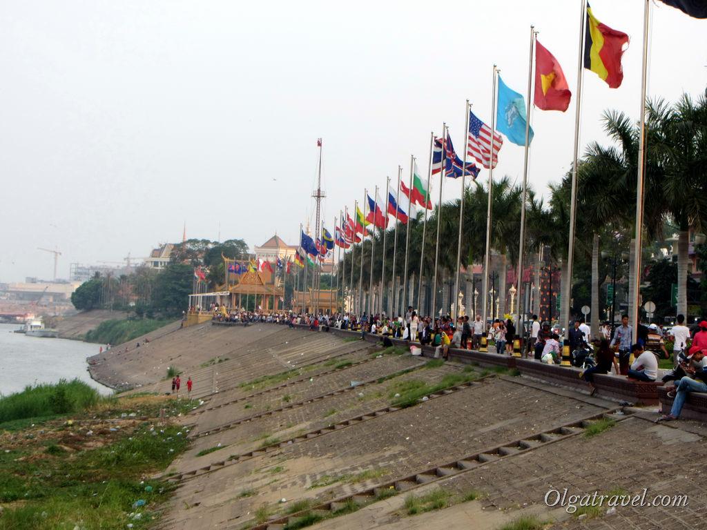 Набережная Пномпень