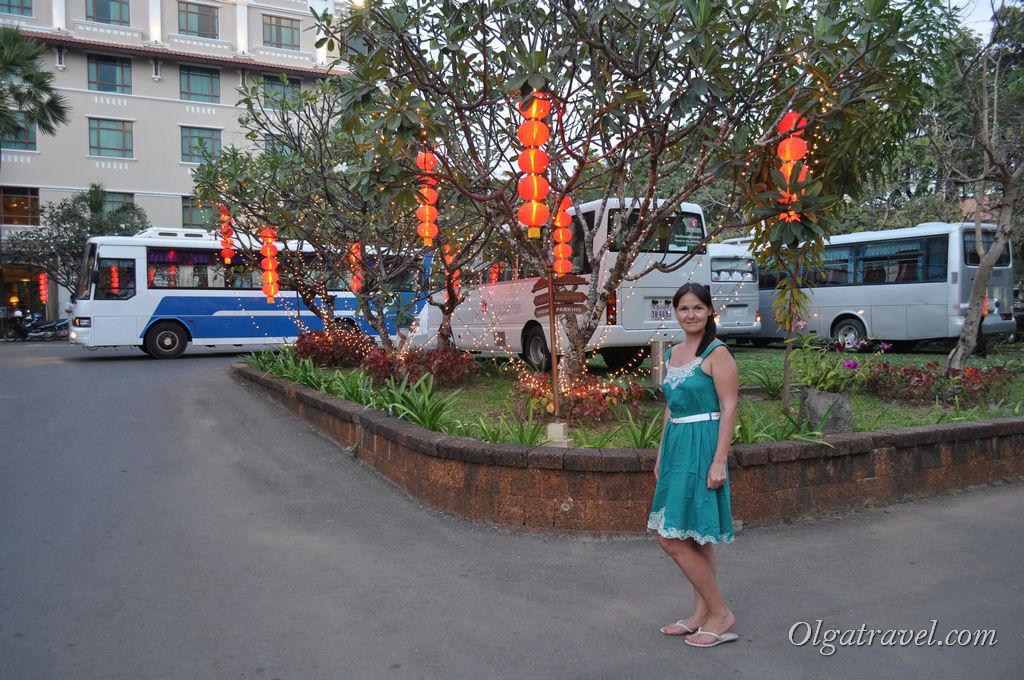 На территории одного из отелей Сием Рипа