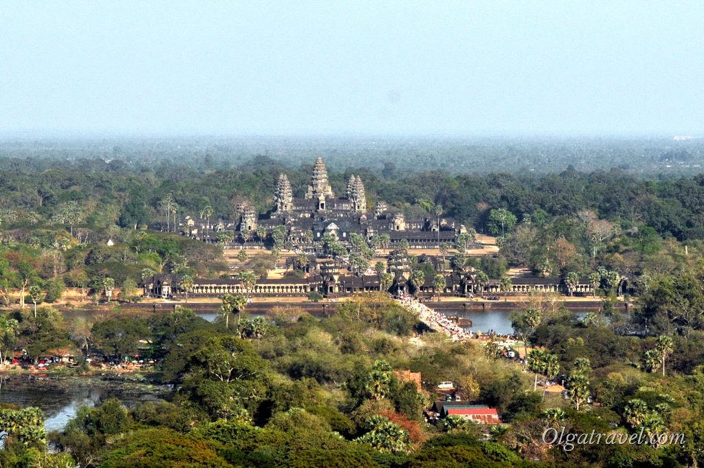 Ангкор Ват Камбоджа воздушный шар