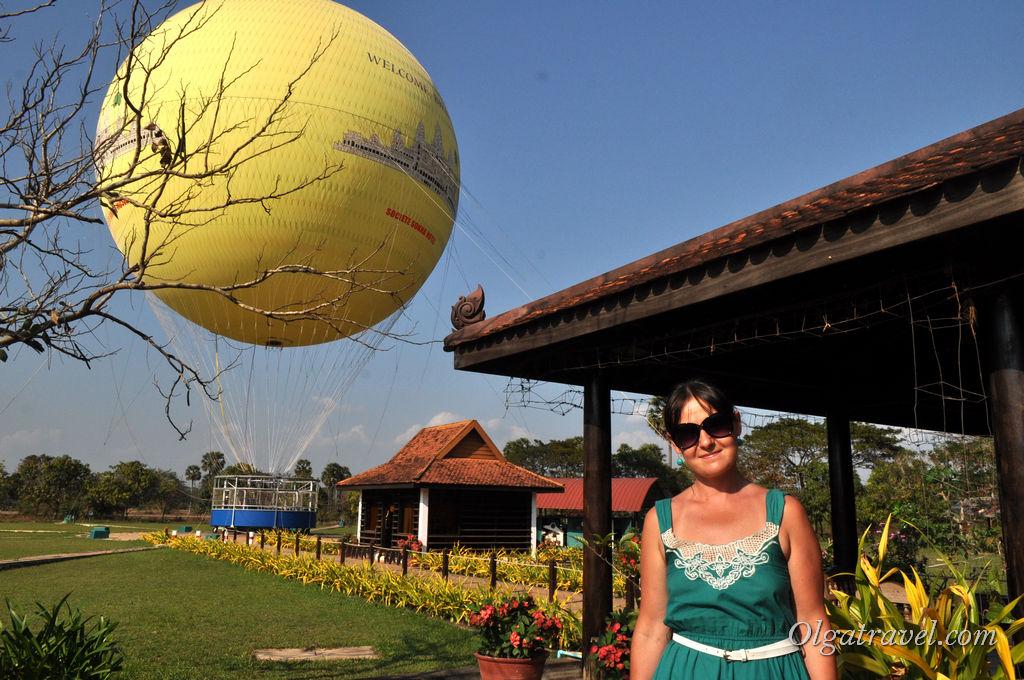 воздушный шар Ангкор ват