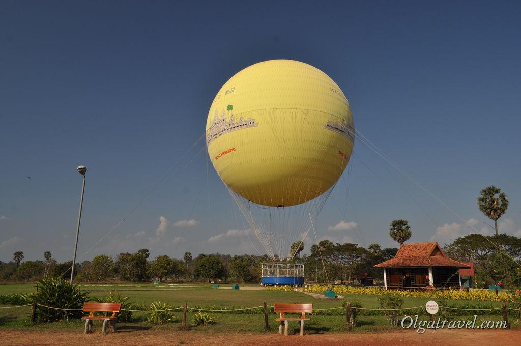 В один из дней мы рискнули подняться в небо на воздушном шаре