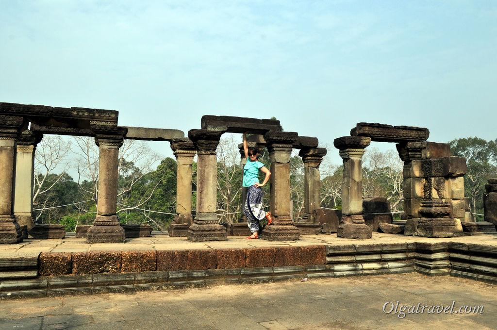 Где то в одном из храмов Ангкора