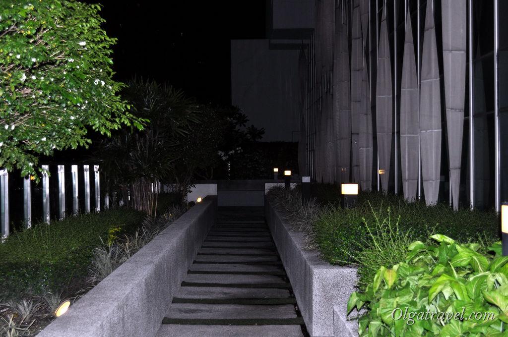 На предпоследнем этаже здания находится открытая терраса