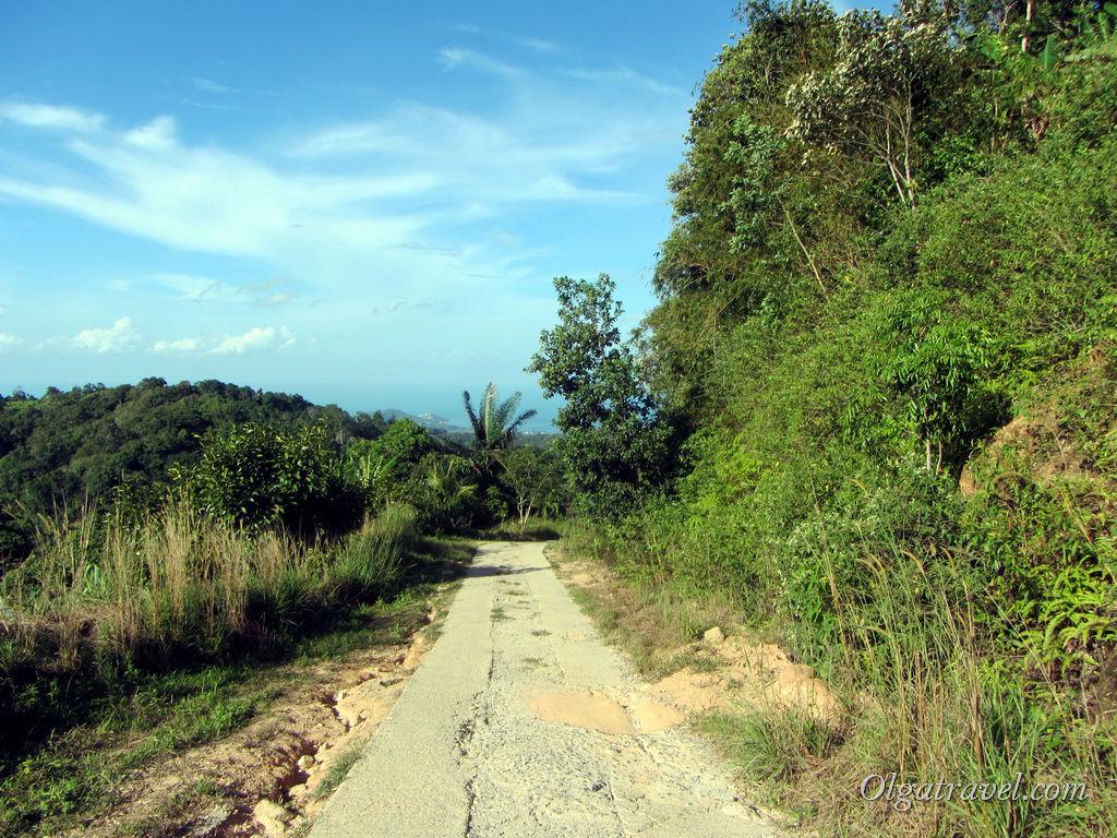 дорога к Биг Будде Самуи