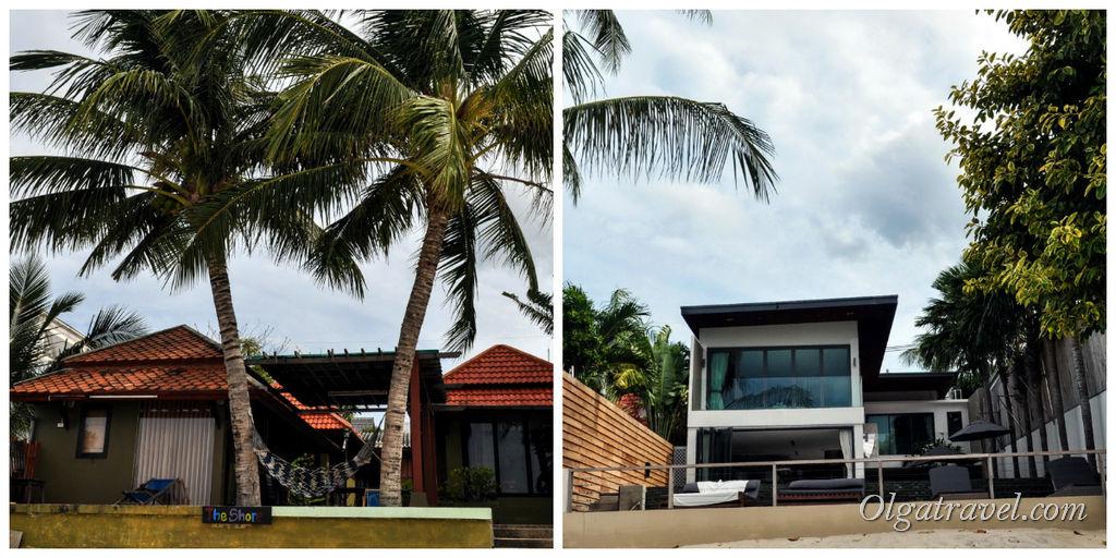 Вилы, дома и отели на пляже Банг Рак
