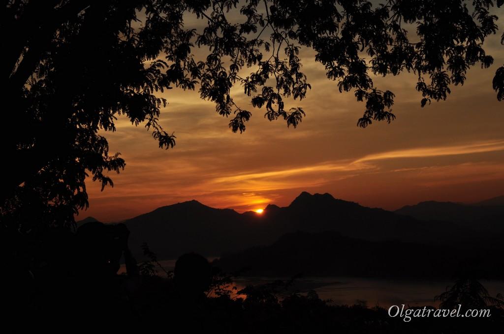 Лаос закаты