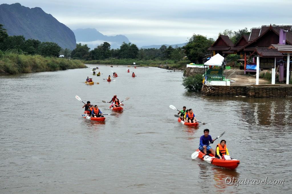 каякинг Лаос