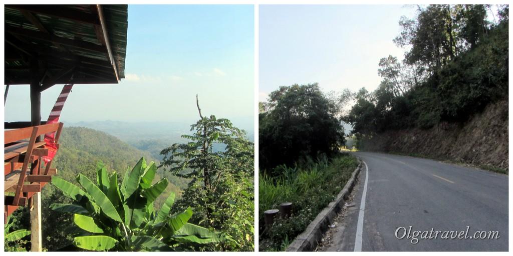 Горная дорога из Лампанга в Чианг Май