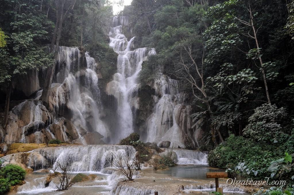 Лаос водопад