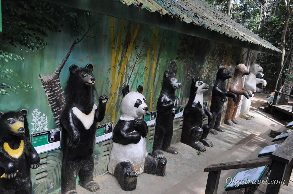медведи в парке Куанг Си