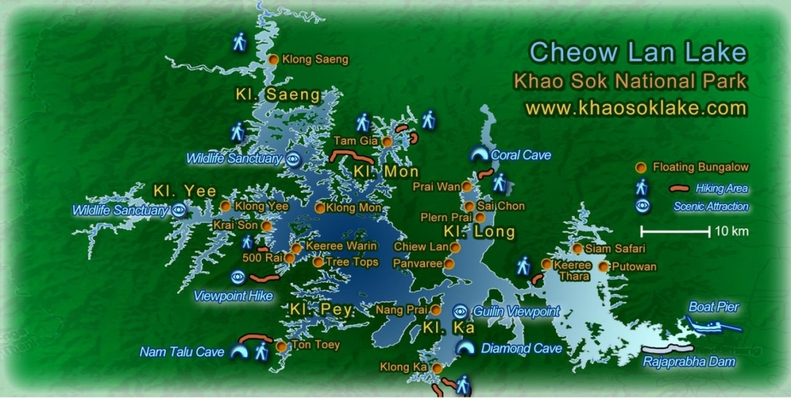 озеро Као Сок карта