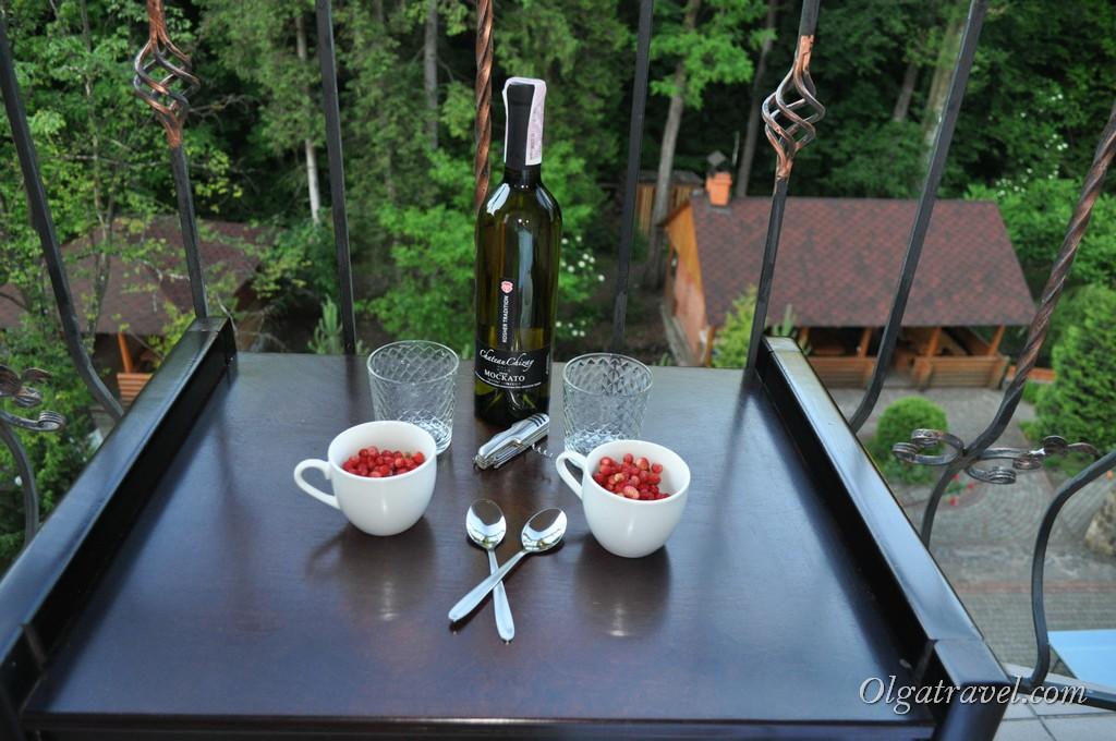 Закарпатское вино под ароматную землянику - хорошее завершение долгого дня