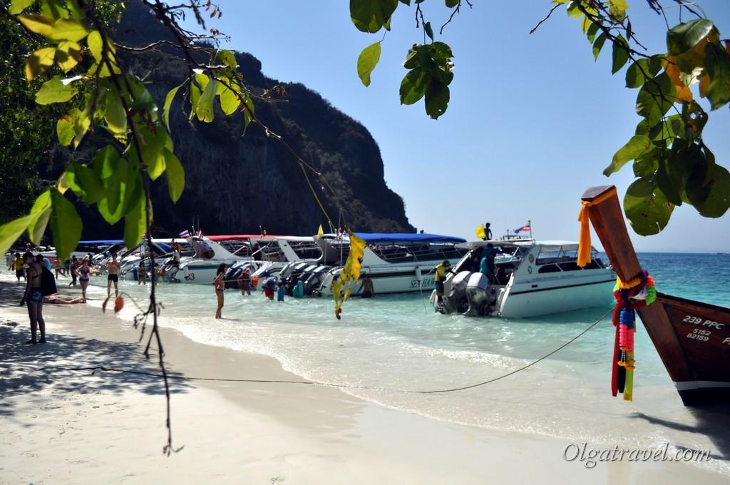 обезьяний пляж Пхи Пхи