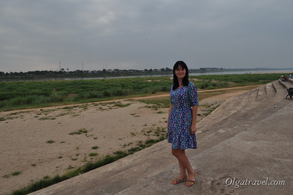 река Меконг Вьентьян