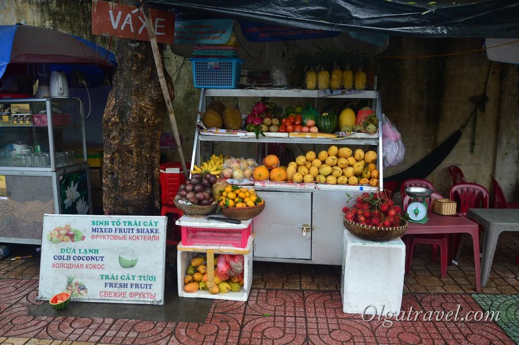 фрукты в Нячанге в октябре