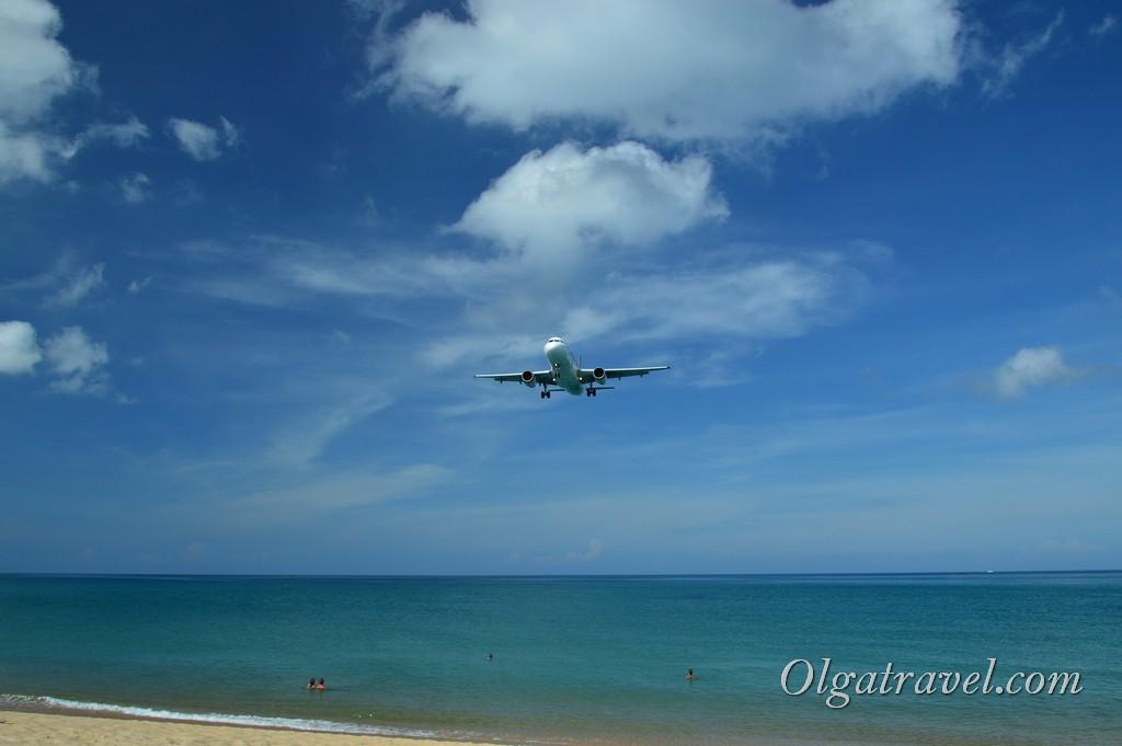 пляж с самолетами пхукет