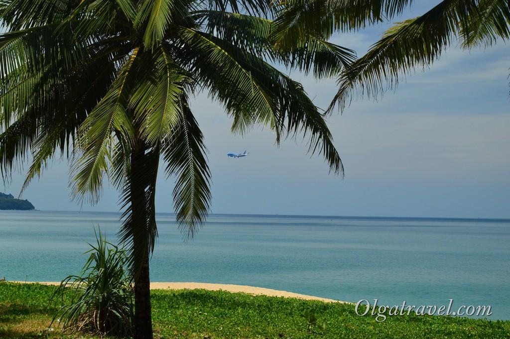 пхукет пляж с самолетами май као