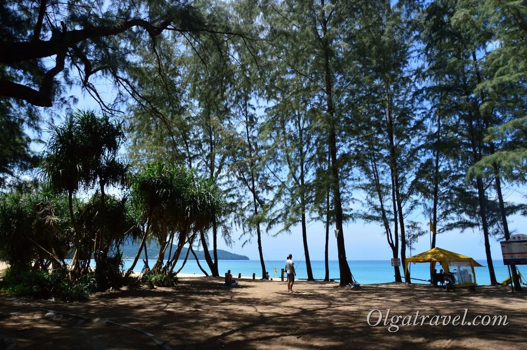 пляж, где садятся самолеты Пхукет