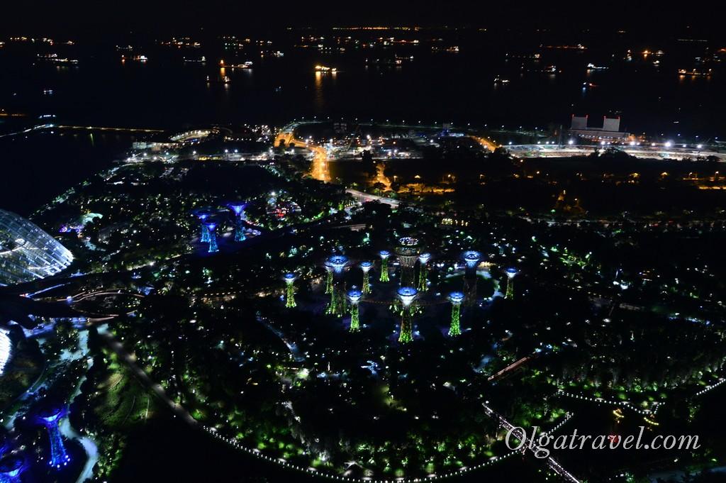 Марина Бэй Сандс Сингапур смотровая площадка