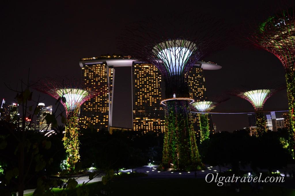 футуристические сады Сингапур
