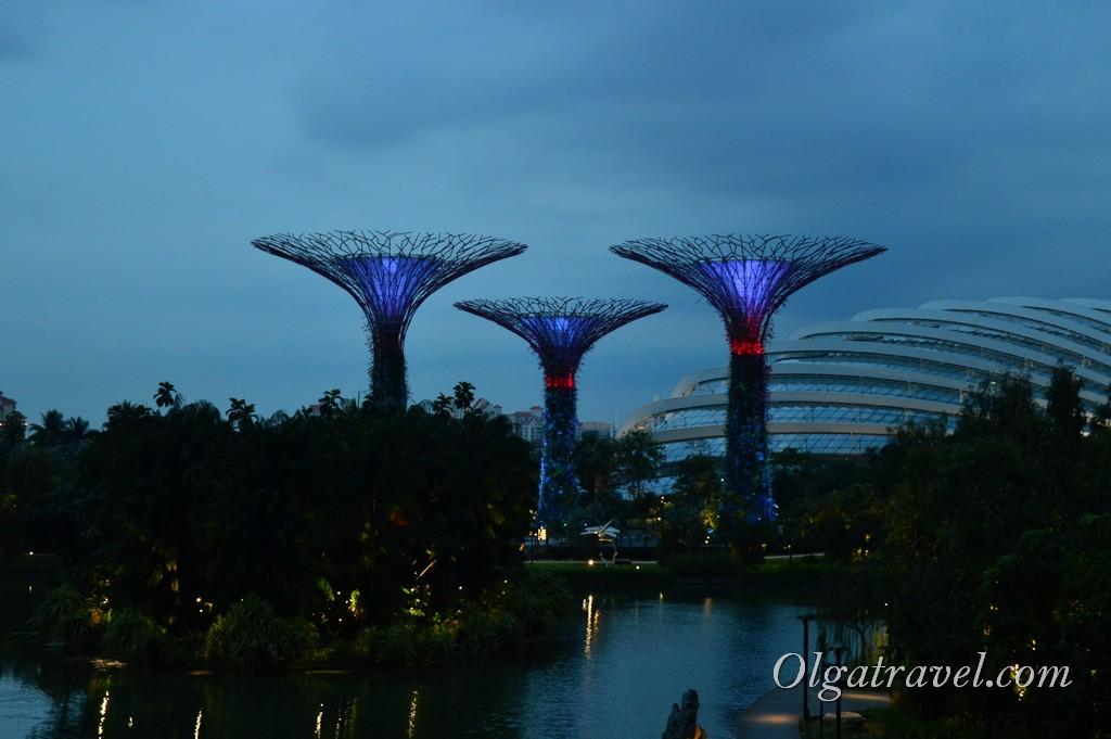 сады у залива Сингапур