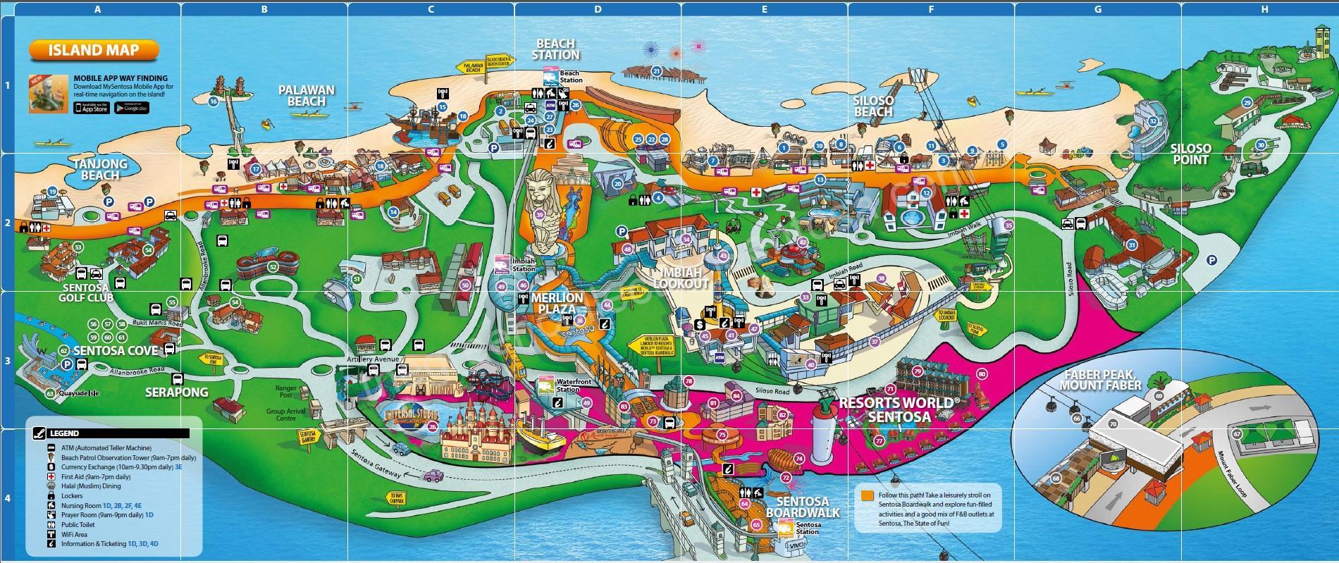 карта Сентозы