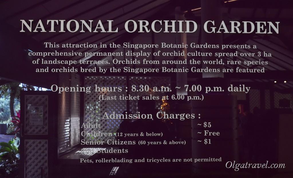 сад орхидей в сингапуре время работы