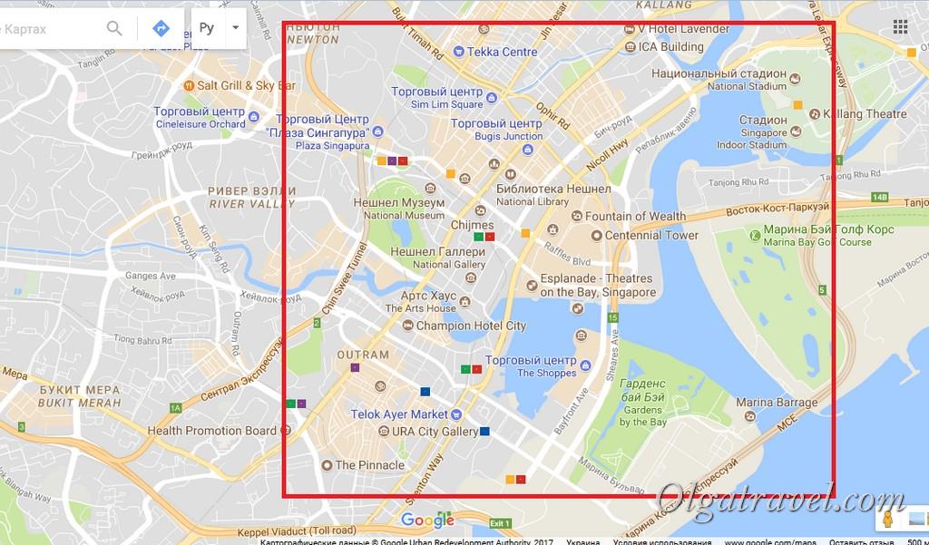 отели Сингапура выбор района
