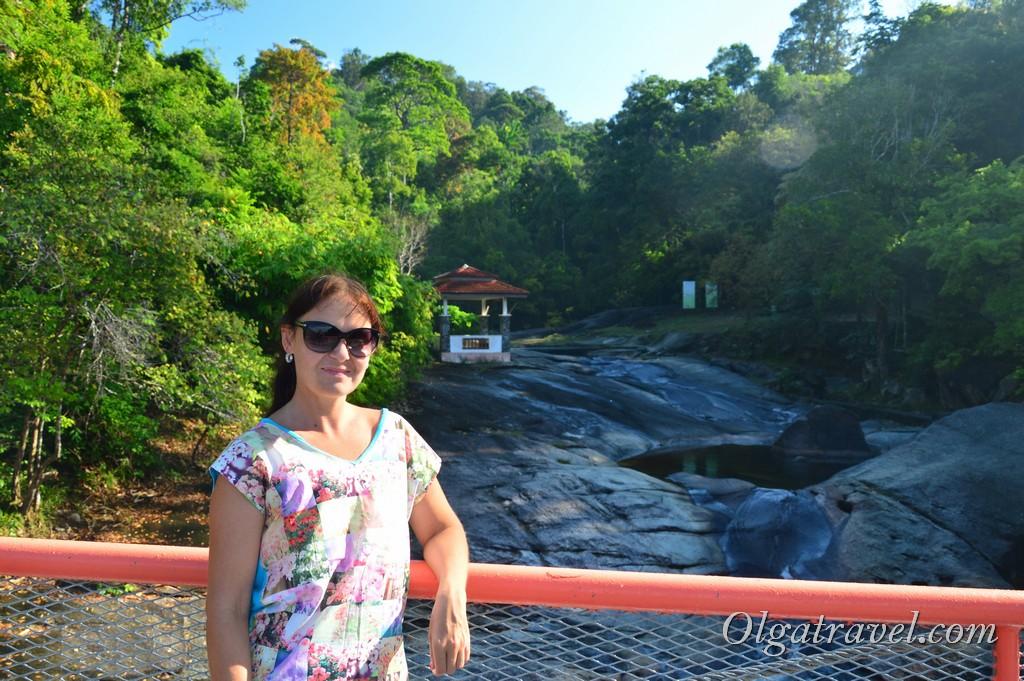 Лангкави водопад семь колодцев