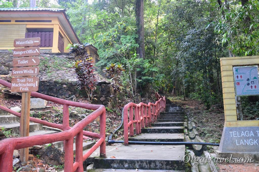 водопад Лангкави семь колодцев