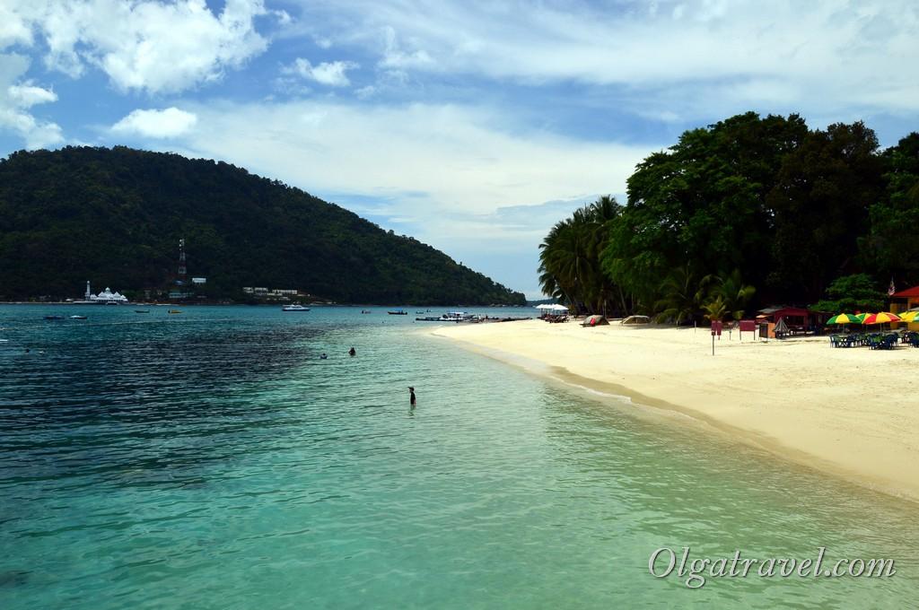 пляж Перхентианы