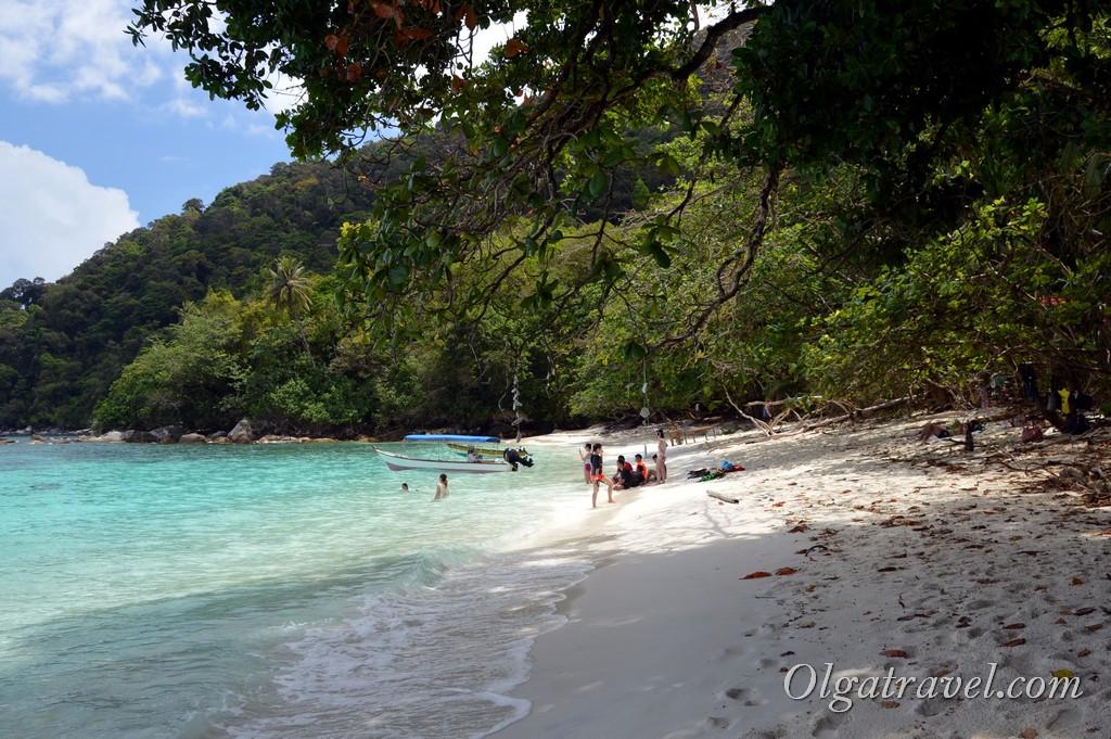Пляж Туртел Перхентианы