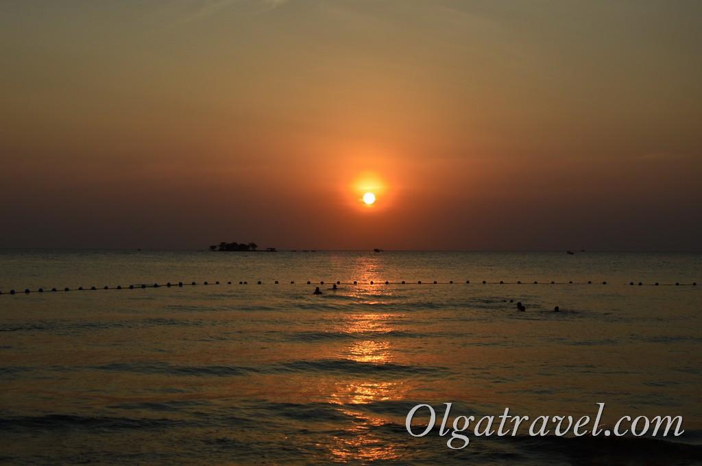 остров Фукок закат